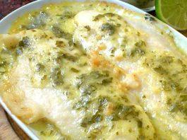 Filete de pescado con salsa bechamel