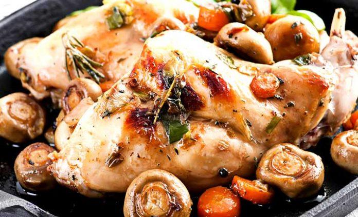 Pollo asado al caldero
