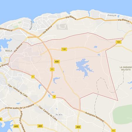 Municipio Guanabacoa La Habana Mapa