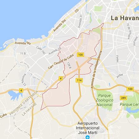 Municipio Marianao La Habana Cuba Mapa