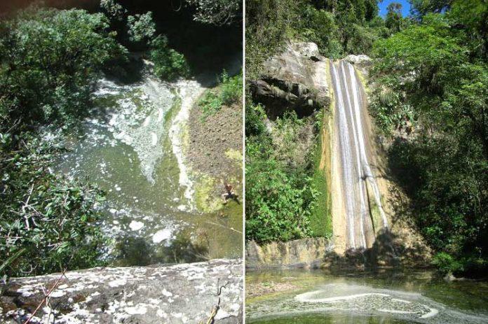 El Salto de Las Criollas es un paisaje de la serranía del municipio Media Luna