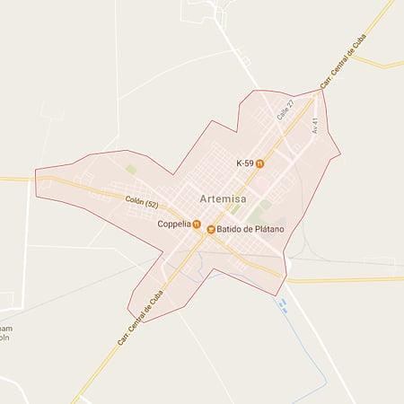 Municipio Artemisa Mapa