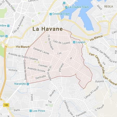 Municipio Diez de Octubre LaHabana Map
