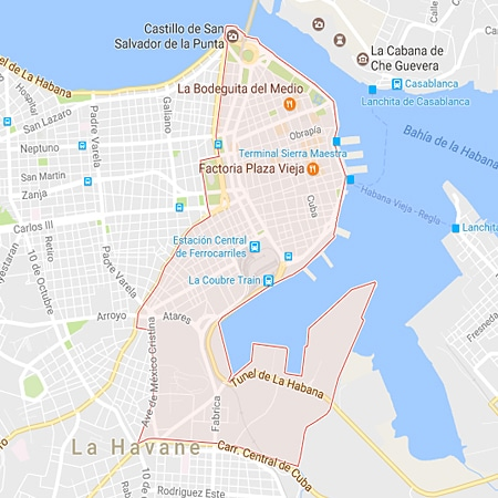 Municipio La Habana Vieja La Habana Mapa
