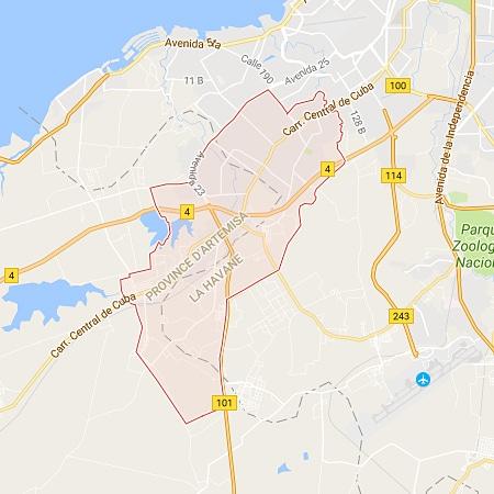 Municipalité de La Lisa - La Havane Carte