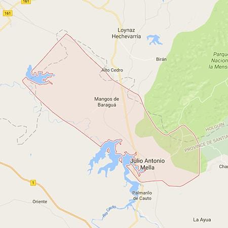 Municipio Mella Santiago de Cuba Mapa