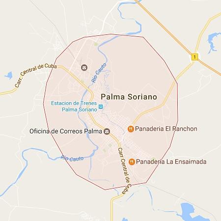 Municipio Palma Soriano Santiago de Cuba Mapa