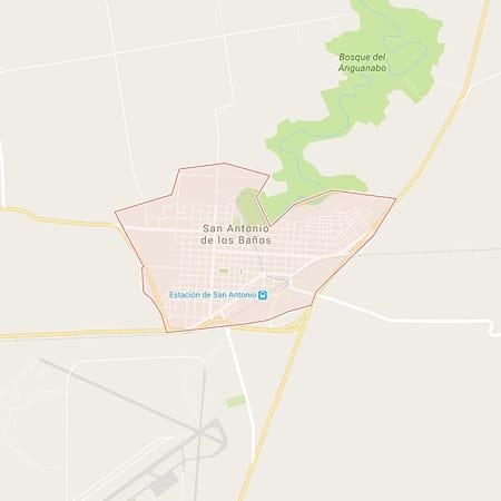 Municipio San Antonio de los Banos Mapa