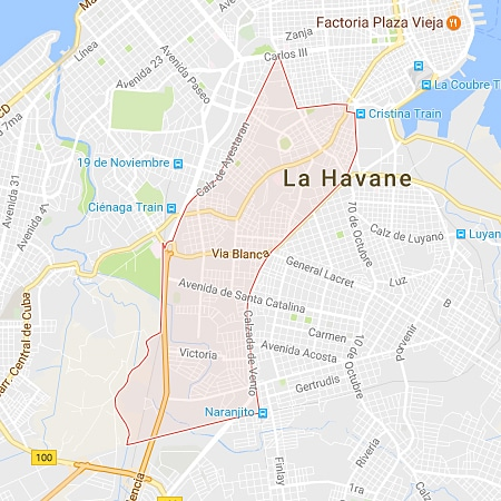 Municipio Cerro La Habana mapa