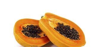 Fruta bomba o papaya, Características. La papaya es una fruta blanda, muy jugosa y de consistencia mantecosa. Pertenece a la familia de las Caricáceas, form