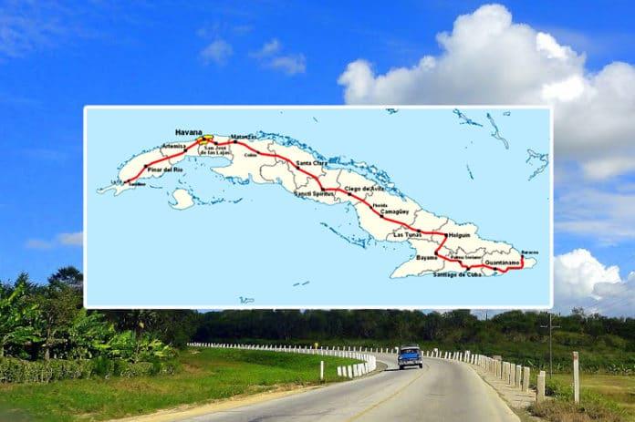 La carretera central de Cuba
